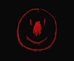 black, blood, and clown image