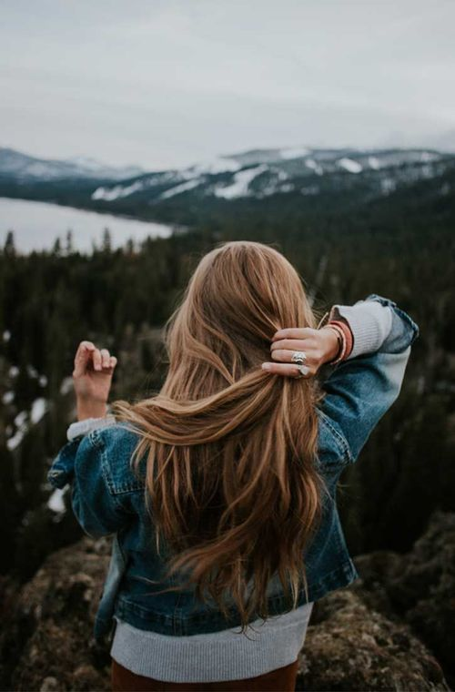 hair, travel, and mountains image