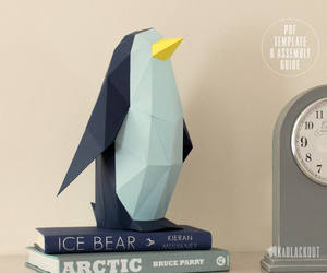 etsy, papercraft, and penguin image