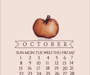 autumn, calendar, and october image