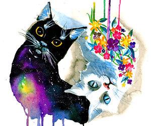 art, floral, and nebula image