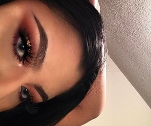 aesthetic, beige, and eyebrows image