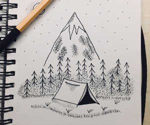 camping, desing, and draw image