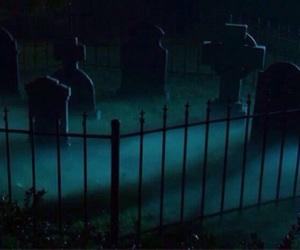 cemetery, dark, and Darkness image