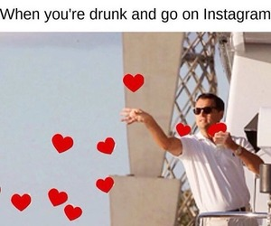 funny, instagram, and drunk image