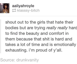 proud, shout out, and body love image