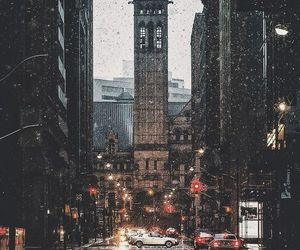 city, wallpaper, and rain image