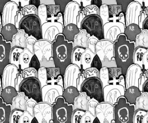 graveyard and pattern image
