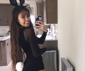 Halloween, bunny, and girl image