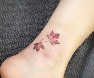 tattoo, leaves, and autumn image