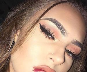 eyebrows, girl, and baddie image