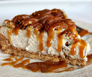cake, food, and caramel image