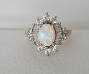 art deco, opal, and vintage opal ring image