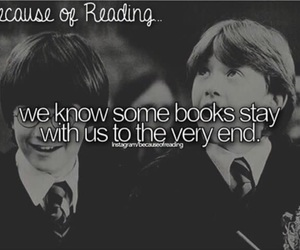books, ron weasley, and because of reading... image