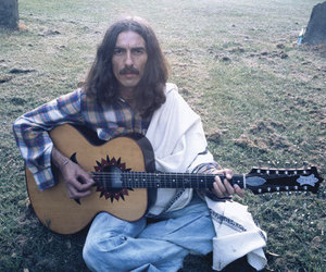 george harrison, guitar, and music image