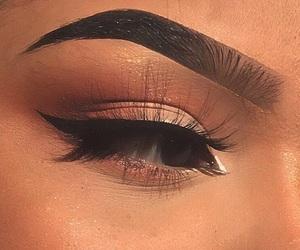 makeup, eyebrows, and girl image