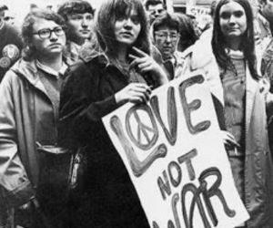 love, peace, and hippie image