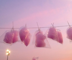 pink, sky, and cotton candy image