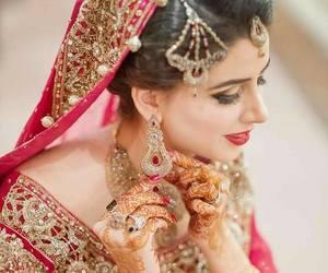 wedding dress, pakistani bride, and indian bride image