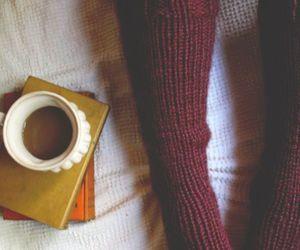socks, book, and coffee image