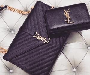 bag, Yves Saint Laurent, and black image