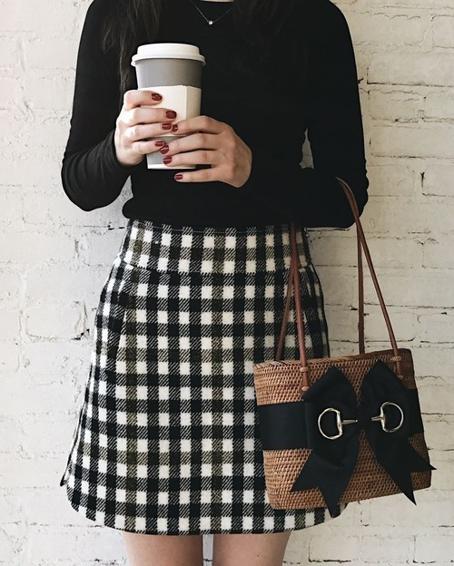 outfit, fashion, and gingham image