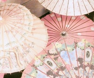 pink, umbrella, and japan image