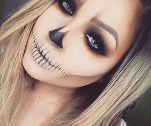 Halloween, makeup, and pretty image