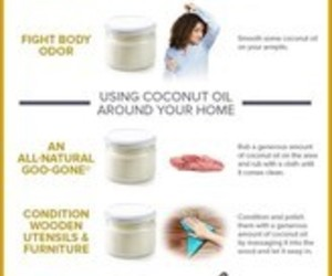 coconut, oil, and skin image