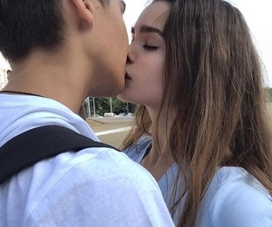couple, girl, and love image