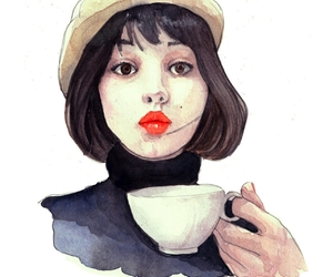 coffee, coffee addict, and fashion illustration image