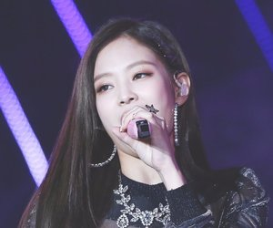 black pink and jennie image