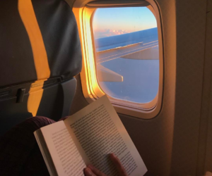 travel, book, and sky image