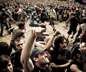 concert, crowd, and mosh pit image
