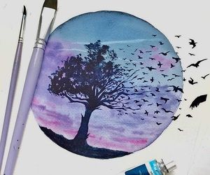 birds, circle, and cool image