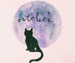 Halloween, october, and watercolor image