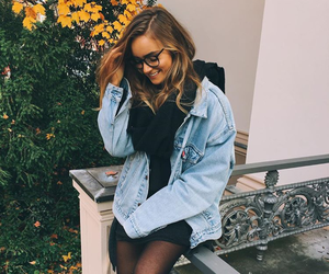 black, denim, and fall image