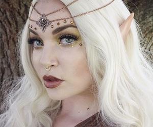 girl, Halloween, and makeup image