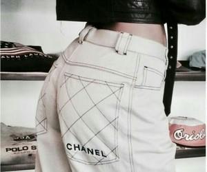 chanel, girl, and leather jacket image