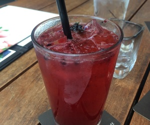 blackberry, drink, and lemon image