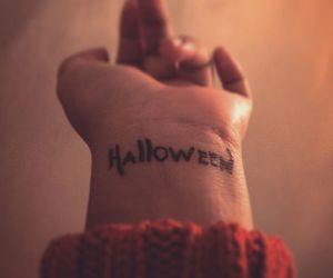Halloween, Tattoos, and party image