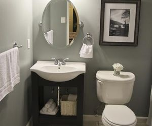 bathroom, decor, and flowers image