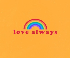 love, rainbow, and aesthetic image