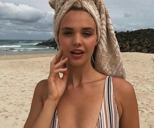 beach, girl, and beauty image
