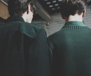 green, slytherin, and boy image