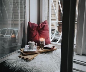 cozy, candle, and winter image