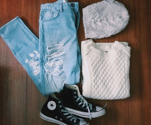 casual, converse, and fall image