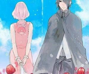 sasusaku, anime, and love image
