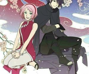 anime, sasusaku, and couple image
