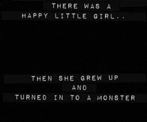 girl, monster, and quotes image